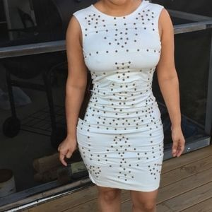 Bebe Embellished Midi Dress Small NWT
